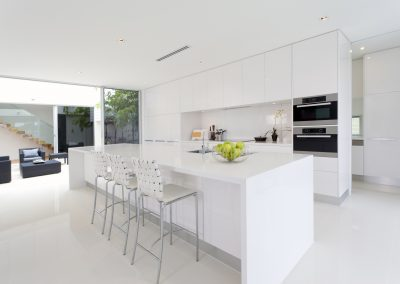 White Acrylic Kitchen Cabinet