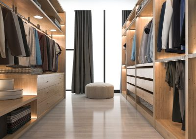 Wooden Walk-in Wardrobe